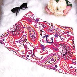 Lands' End Paisley Print Swimsuit Skirt Bottom